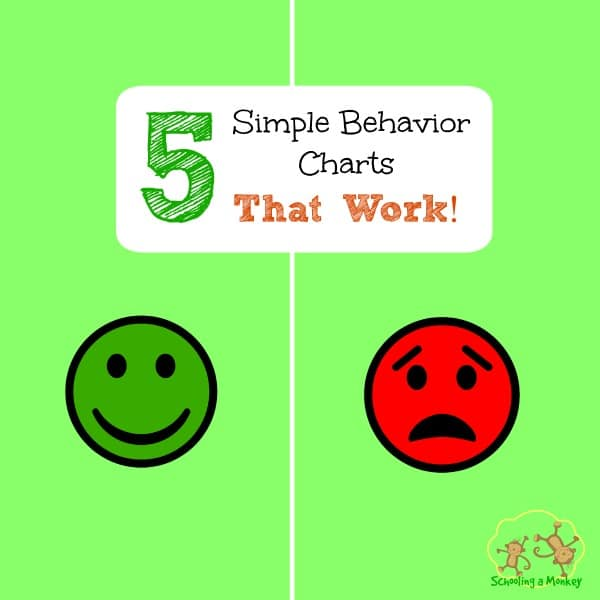 5 simple behavior charts that work! -Schooling a Monkey
