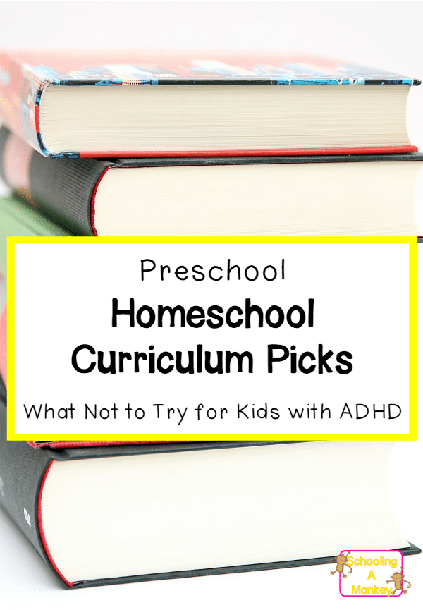 What homeschool preschool curriculum will work with ADHD kids? This amusing tale of woe will at least help you figure out what NOT to try.