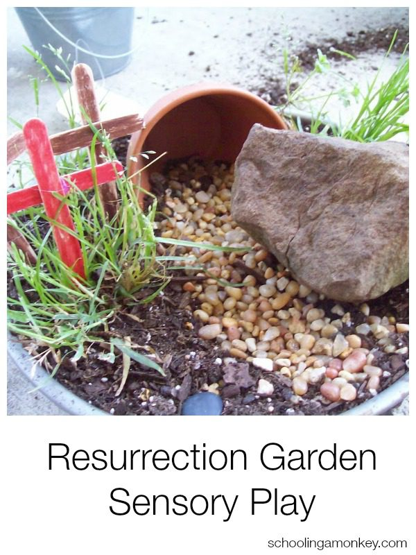 Want a more meaningful Easter activity for your kids? This Resurrection Garden sensory play  activity is both educational and fun!