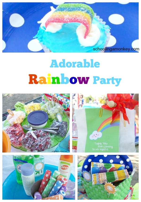 Monkey's Rainbow Birthday Party