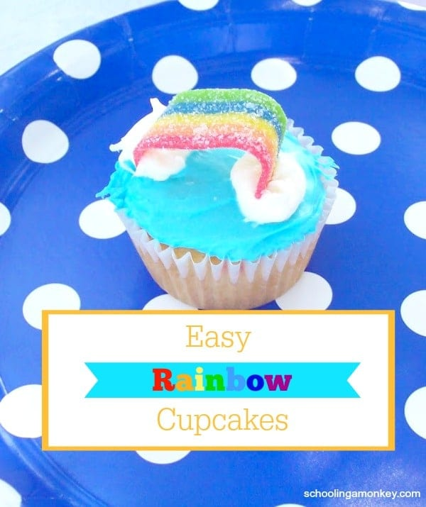 Wondering how to make rainbow cake or how to make rainbow cupcakes? This simple step-by-step tutorial shows you how!