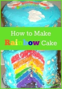 Birthday Fun: How to Make Rainbow Cake