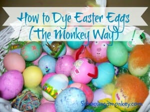 How to Dye Easter Eggs (The Monkey Way)