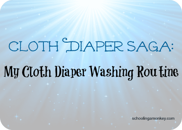 Cloth Diaper Saga: My Cloth Diaper Washing Routine