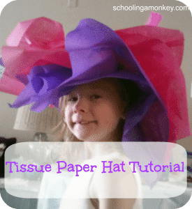 If you're throwing a tea party, don't miss making these adorable tissue paper hats! This tissue paper hat tutorial is simple and perfect for all ages.