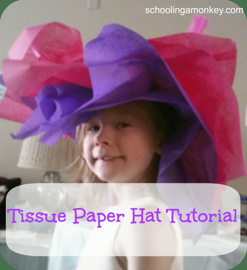 Vintage Tea Party: Tissue Paper Hat Tutorial