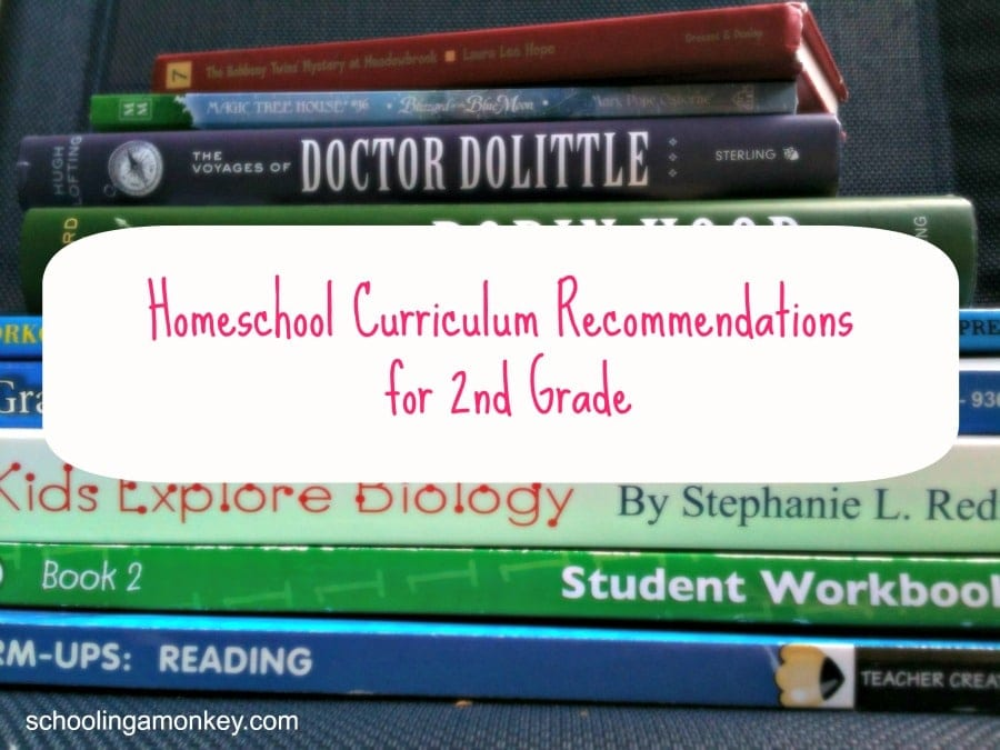 Homeschool Curriculum Recommendations for 2nd Grade
