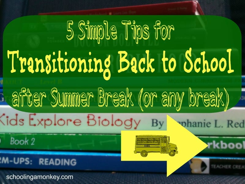 5 Simple Tips for Transitioning Back to School after Summer Break