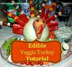 Thanksgiving Kid's Craft: Edible Veggie Turkey Tutorial