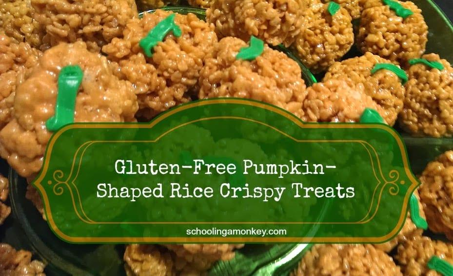 Gluten-Free Pumpkin-Shaped Rice Crispy Treats (Tutorial)