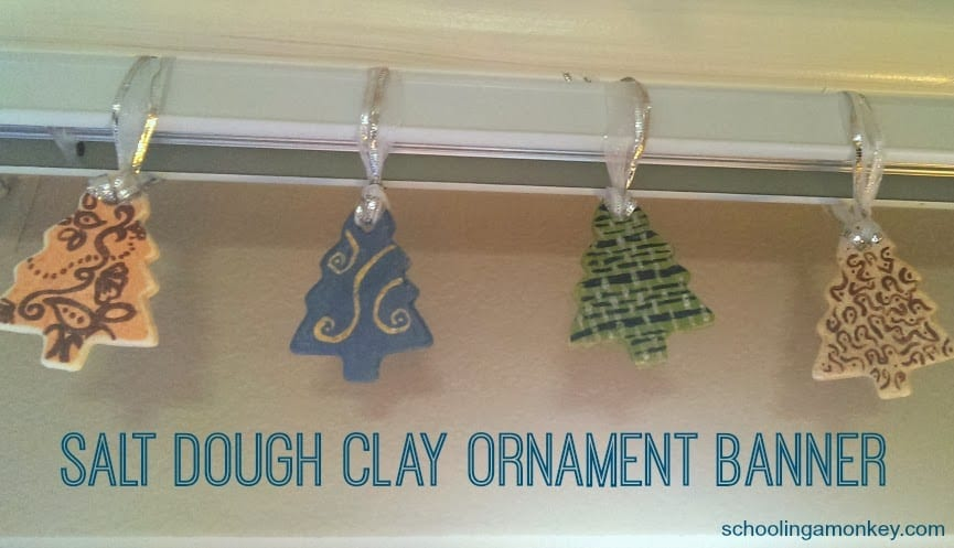 Salt Dough Clay Ornament Banner (recipe and tutorial)