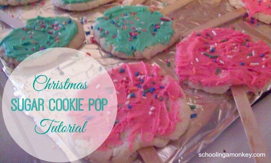 Christmas Sugar Cookie Pop Tutorial
