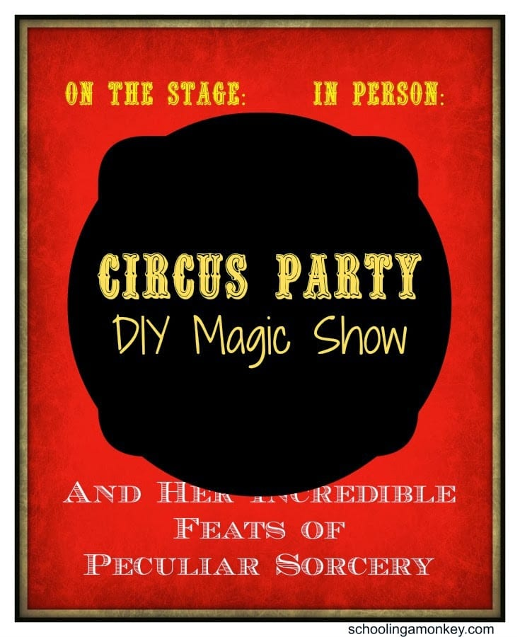 Planning a circus party? Don't forget to host your own DIY magic show!