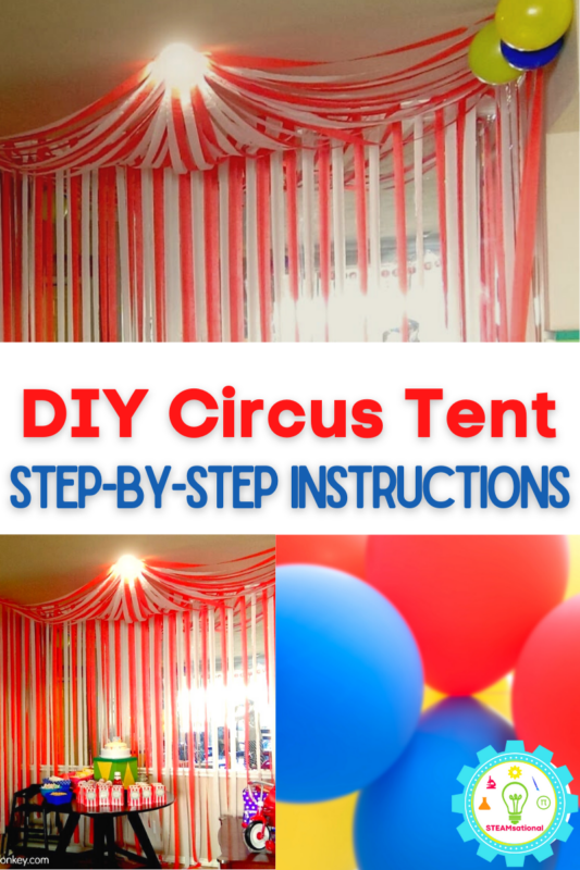 Learn how to make a circus tent from paper with these step by step instructions! It's easy!