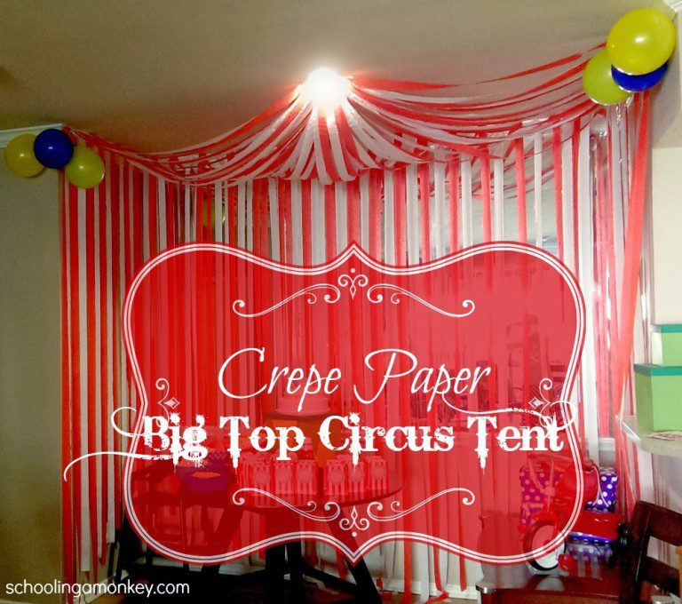 Circus parties are more fun with a DIY circus tent!