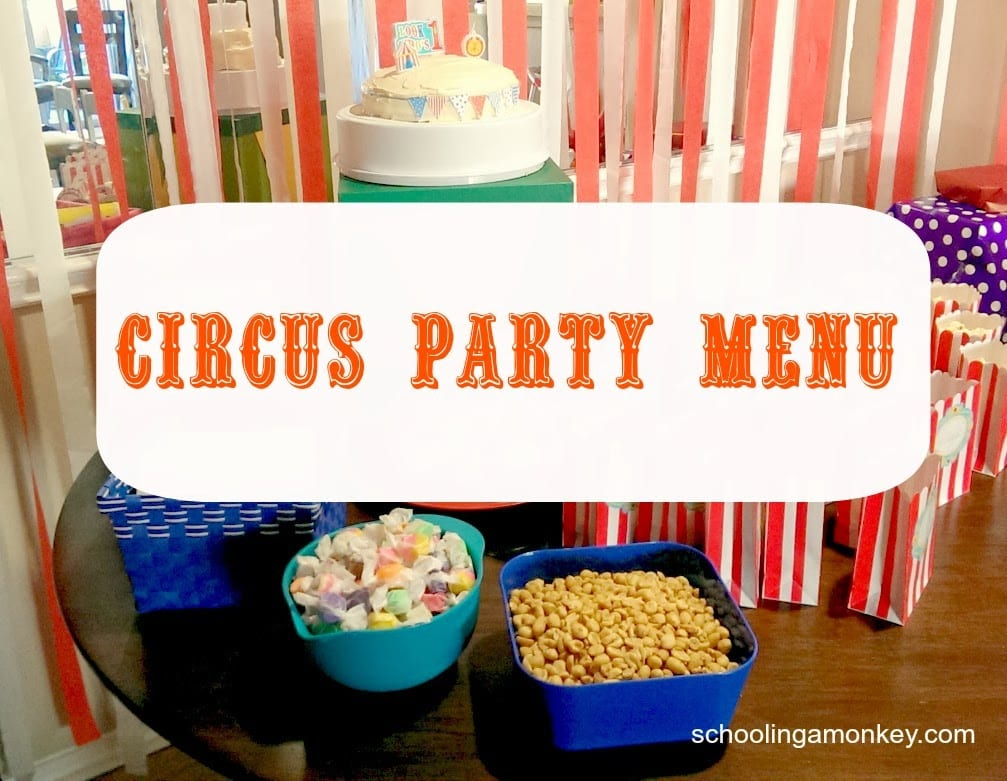 Circus Party Menu: Circus Food and Snacks
