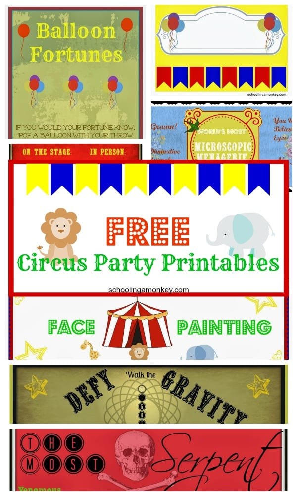 Planning a circus party? Make these cute printable circus party favors for your guests!