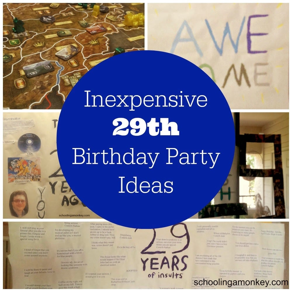 Decorating On A Budget 29th Birthday Party Ideas