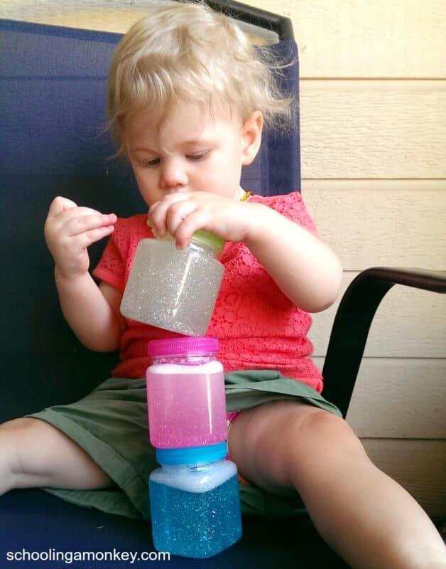 baby safe glitter jar