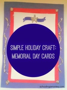 Simple Memorial Day Craft: Memorial Day Cards (and free printable!)