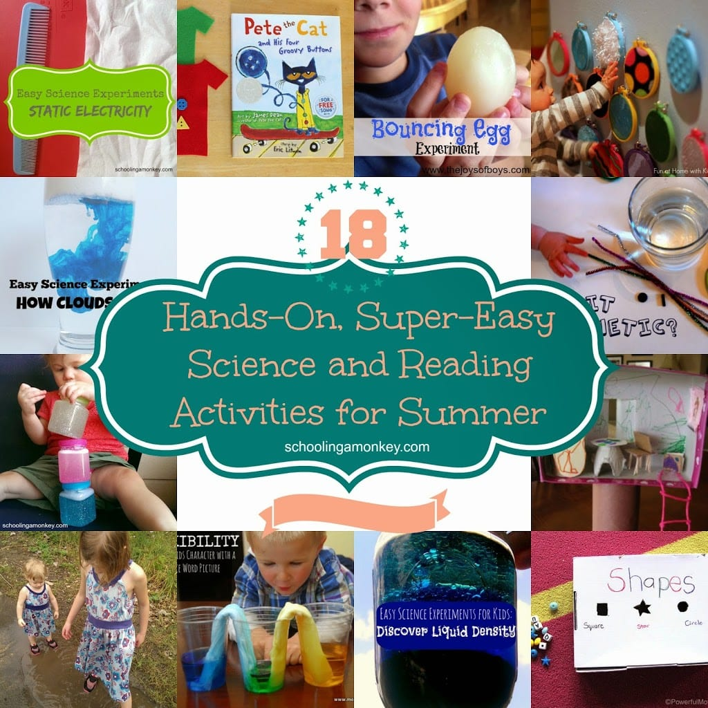 Make learning fun through the summer with these hands-on learning activities for summer! Summer science, summer reading, and summer fun for all!