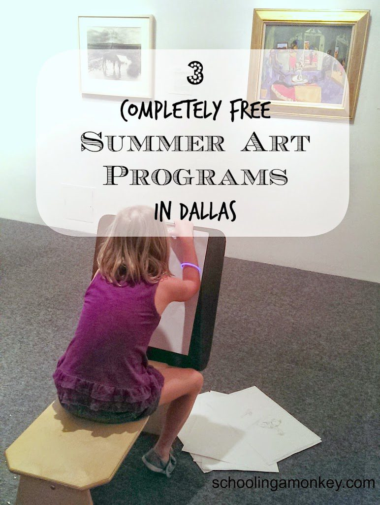 3 Completely Free Summer Art Programs in Dallas