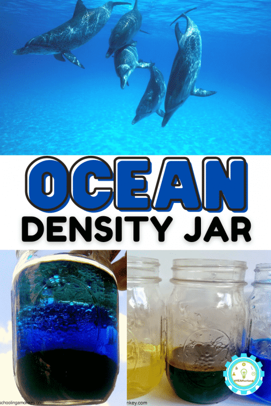 Today, we will show you an extremely simple way to make a liquid density experiment. We've done other types of liquid density experiments for kids before, but this time, we decided to try and make a density jar that mimics the layers of the ocean!