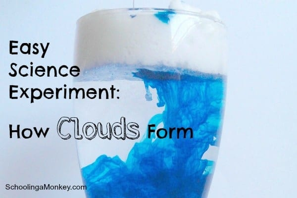 easy science experiments  how to make a cloud in a jar