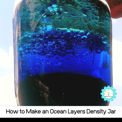 This ocean layer jar uses density to build a model of the ocean layers! Quick science experiments for kids!