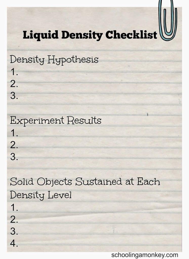 liquid-density-checklist-printable