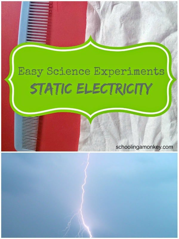 How does static electricity work? Show kids how static electricity works in this easy static electricity science experiment!