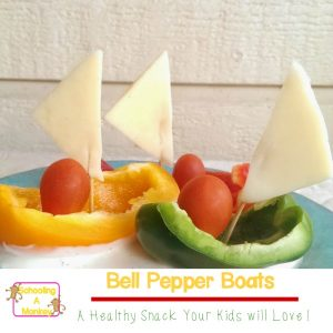 Easy Healthy Snack Ideas: Adorable Bell Pepper Boats
