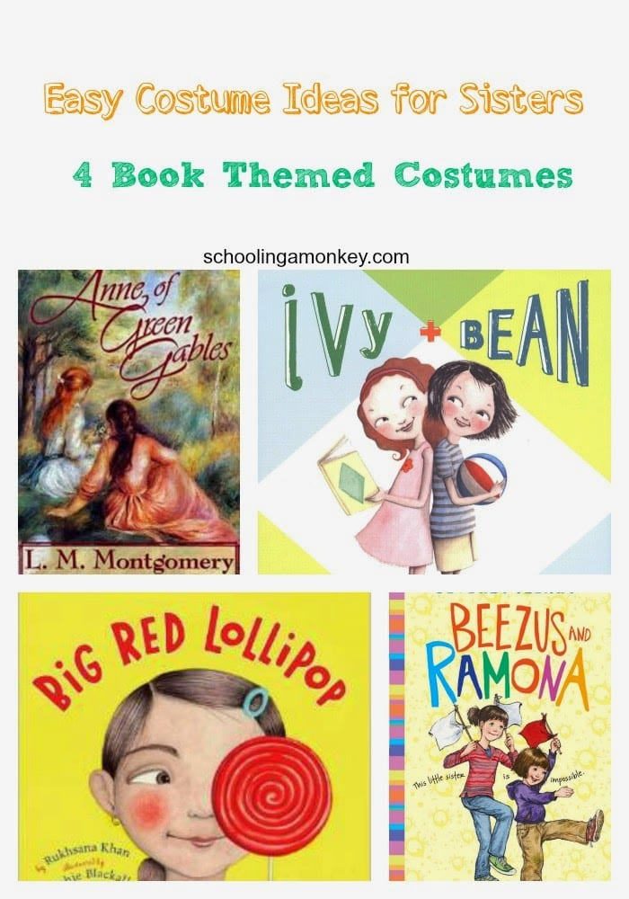 Costume Ideas for Sisters: 4 Book Themed Costumes for Girls