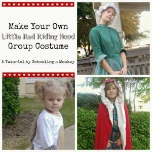 DIY Little Red Riding Hood Group Costume Tutorial
