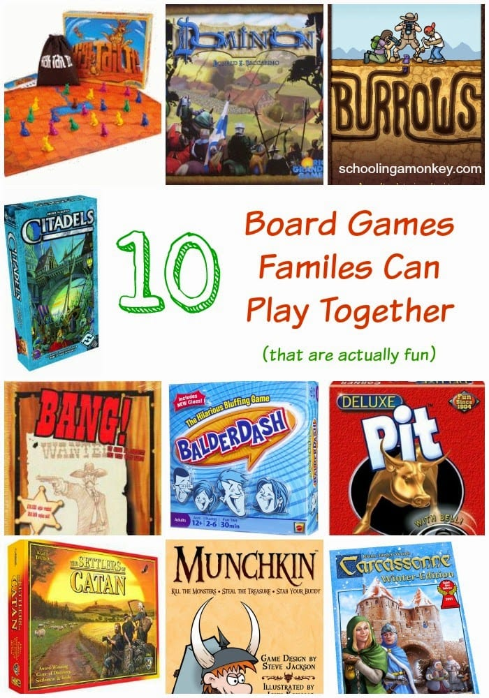 Wondering what kind of board games for families you should get? Skip the silly games and choose straight from this list all chosen by a family of gamers.