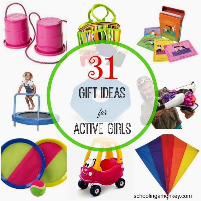 Would your daughter rather be outside than at the craft table? Then these gift ideas for active girls are just what you need for Christmas gift ideas!