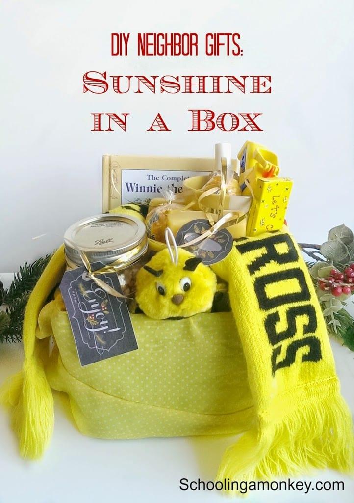 DIY Christmas Gift Ideas for Neighbors: Sunshine in a Box