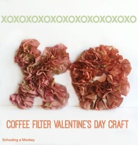 DIY Coffee Filter Valentine XO Decoration Craft