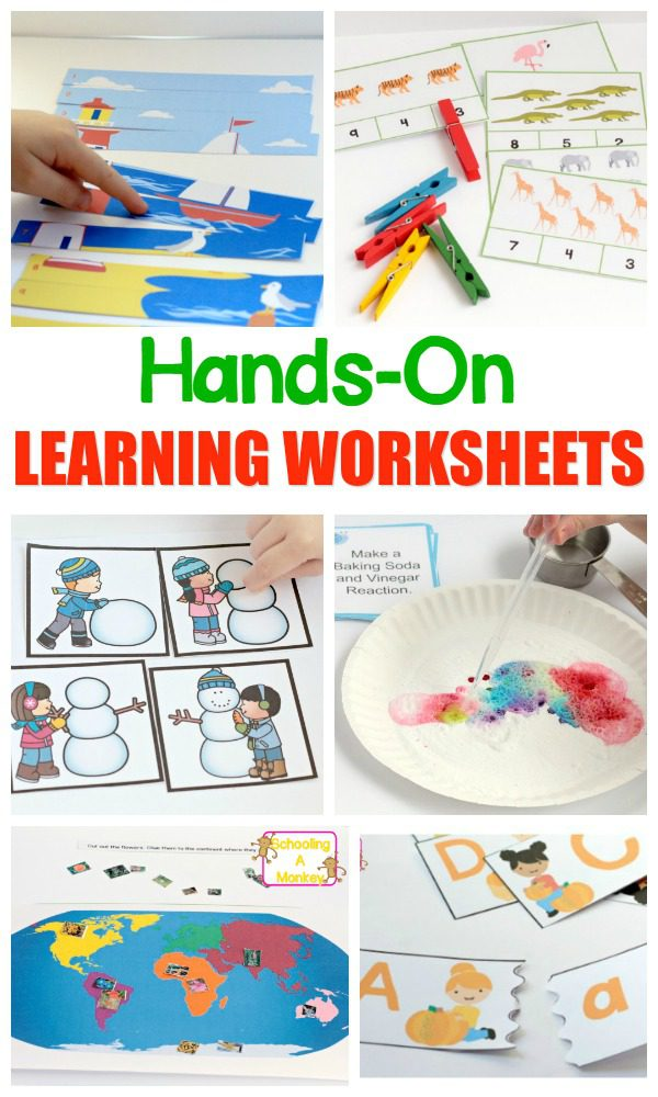 Hands-On Learning Worksheets Kids (and teachers) Will Love!
