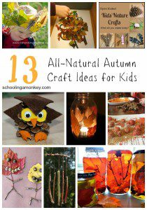 13 Natural Fall Craft Ideas for Kids Using Natural Materials