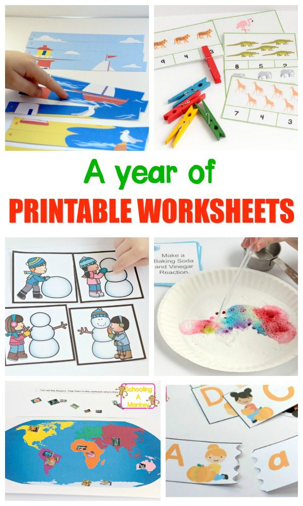 Hands-On Worksheets for Active Kids