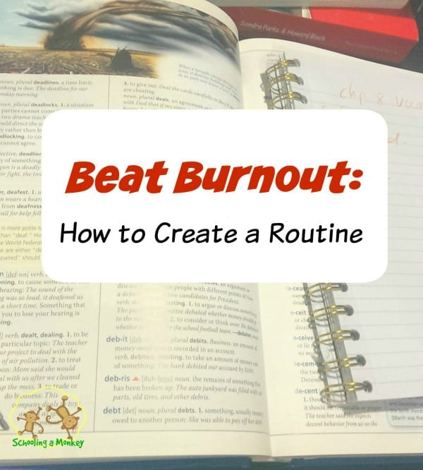 Want to beat homeschool burnout? It's easy when you know how to create a routine and stick with it! These tips will help you discover the perfect routine.
