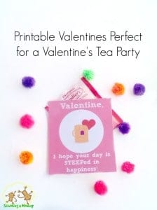 Printable Valentines Perfect for a Valentine's Tea Party