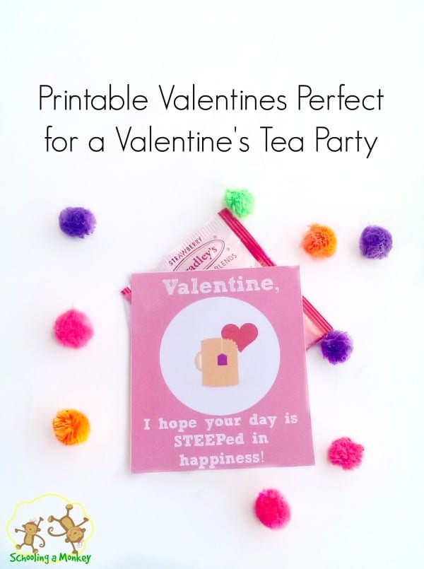 printable valentines for kids tea party