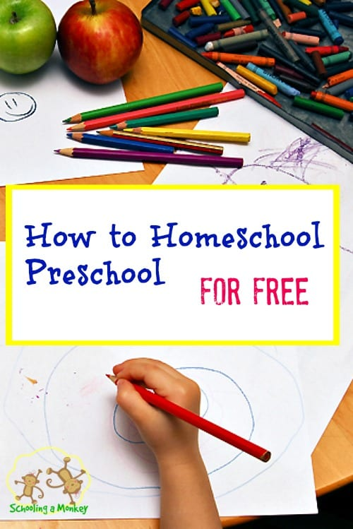 Have a preschooler? Here are some tips on how to homeschool preschool for FREE!