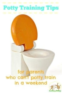 Potty Training Tips for Parents Who Can't Potty Train in a Weekend