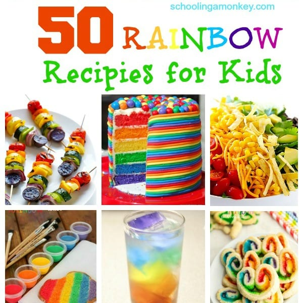 50 Bright and Fresh Rainbow Recipes for Kids