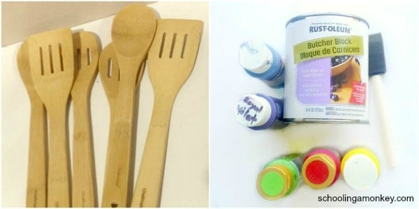 Looking for fun and easy rainbow DIY projects? Look no further than these cheery rainbow kitchen utensils!