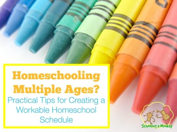 If you have more than one child, homeschooling can be quite difficult! Take a look at our homeschool schedule for multiple ages for helpful tips.