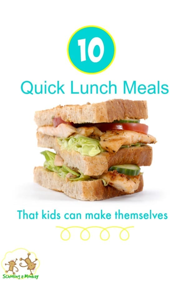 Help your kids feel like kitchen superheros with these 10 quick lunch meals.